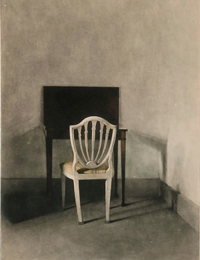"Peter Vilhelm Ilsted, ""En hvid Stol"", The White Chair, 1915."