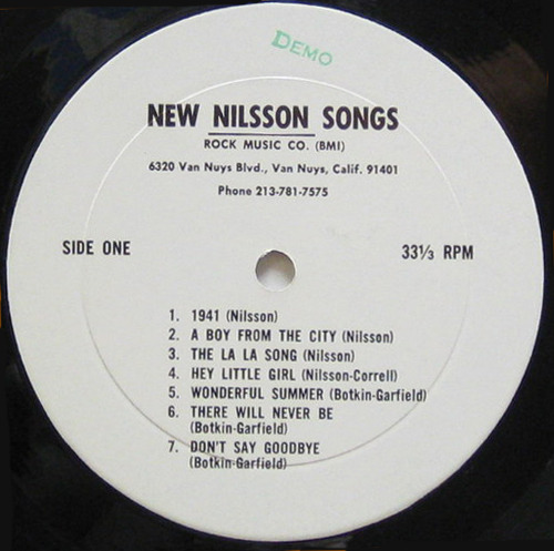 doomandgloomfromthetomb:  NEW NILSSON SONGS (Publishing Demo LP, 1967) Not Coming To A Theater Near You's ROCK FOLLIES II continues. We're almost to Prince, people! But before the Purple One, deal with Son of Dracula, the bizarro film Ringo and Nilsson made back in the 70s. You could call it a vanity project, but everyone looks terrible in it. Nevertheless! Jonathan Foltz makes a fairly convincing case for its worthiness. I don't have any radical outtakes from Son of Dracula, but you can go and dig this very early promo LP over at For The Love Of Harry. It requires a bit of fancy footwork to actually download, but I believe in you, you can do it.
