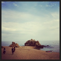 Desert beach @irishumm @jamesbligh @adrianmowgli  (at Sant Pol de Mar)