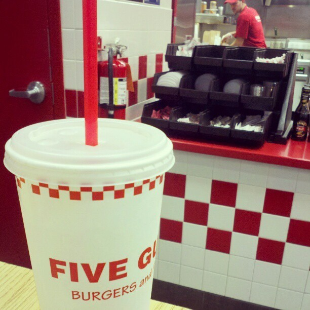 A taste of home. #fiveguys