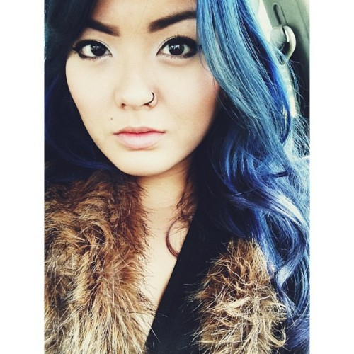 Waking up before 8 sux 😡 #me#selfie#bluehair#thatisfaded