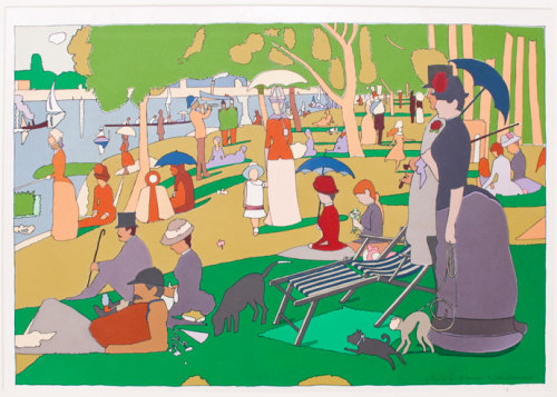 "nevver:  Sunday in the park with Milton Glaser  ""Push-Pin style"" art—who knew?"