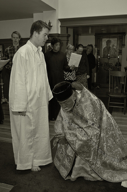 Russian Orthodox Priest/ Christmation on Flickr.