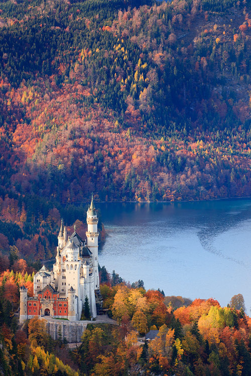 sniffleheim:  Neuschwanstein Castle, Germany by Floydian