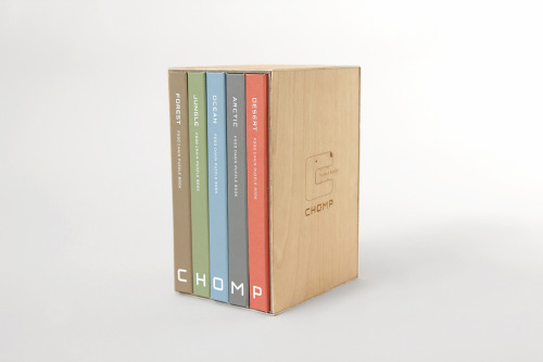 I am incredibly impressed by this series of puzzle books called Chomp by Mirim Seo. Not only are they a good looking bit of creativity and craftsmanship, they're also a simple but effective learning tool. Each puzzle breaks apart into several distinct and friendly little critters, and each puzzle comes together to form a very basic, but super clever, food chain.      This seems like the kind of toy that might be difficult to just hand over to a child (who probably wouldn't appreciate all the time and thought poured into it), but it would hopefully be one that could be held onto and appreciated for years to come.  Forest  Ocean   Jungle