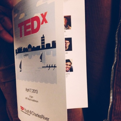 quinntonharris:  Preparing for tomorrow. Honored to be a curator. #TEDx #youth #vscocam (at Massachusetts Institute of Technology (MIT))