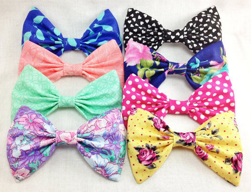 myrandalynnx:  (12) Summer Hair Bow Set of Four Bows- Choose any four bows from the collection on Wanelo on @weheartit.com - http://whrt.it/10cve4N