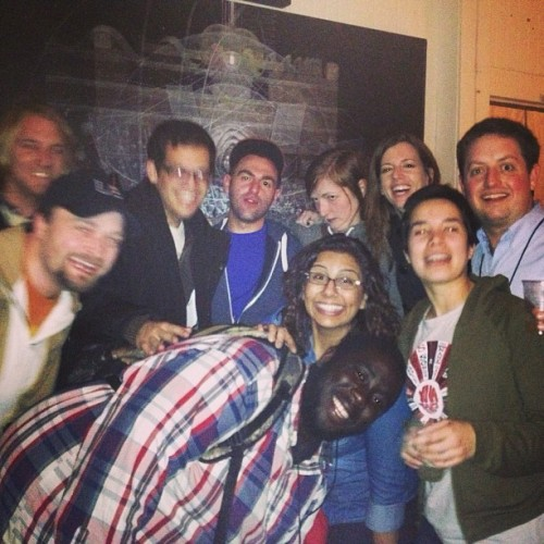Courting Sketchfest: A Feral, Native Pack at #SFSketchfest . Photo via Shanti Charan [Left2Right: Cory Loykasek, Jeff Reitman, Ivan Hernandez, Casey Ley, Anna Seregina, Colleen Watson, Sean Keane, Shanti Charan, Clare O'Kane and David Gborie]