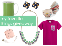 Enter to win my favorite things!