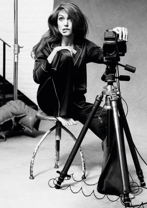 "Angelina Jolie's Self-portraits with a Hasselblad Angelina Jolie is an Oscar-winning actress who has become popular by taking on the title role in the ""Lara Croft"" series of blockbuster movies. Off-screen, Jolie has become prominently involved in international charity projects, especially those involving refugees. She often appears on many ""most beautiful women"" lists, and she has a personal life that is avidly covered by the tabloid press. Here are interesting photos of Angelina Jolie with a Hasselblad from her photoshoot taken by Alexei Hay for the Marie Claire magazine in January 2012.      Bonus: Angelina Jolie with a large format bellows camera"
