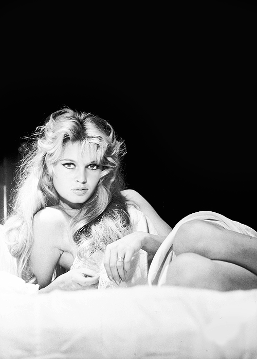 "Brigitte Bardot photographed by Peter Basch in 1958, publicity photo for ""Les bijoutiers du clair de lune"""