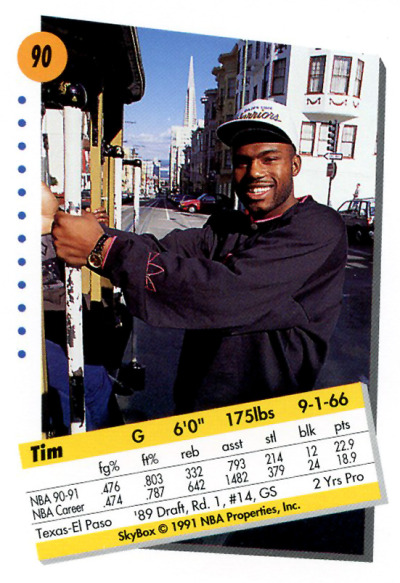 Tim Hardaway Riding a Cable Car in SF