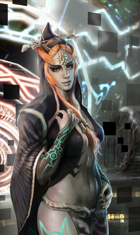 nintendocafe:  Art inspired by the Legend of Zelda, Midna Created by bumbleton