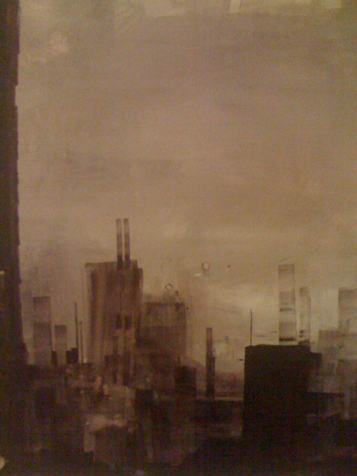 zucherman:  Pixellated crop of the first city painting I ever did, back in 2003.  It now hangs in my younger brother's apartment.