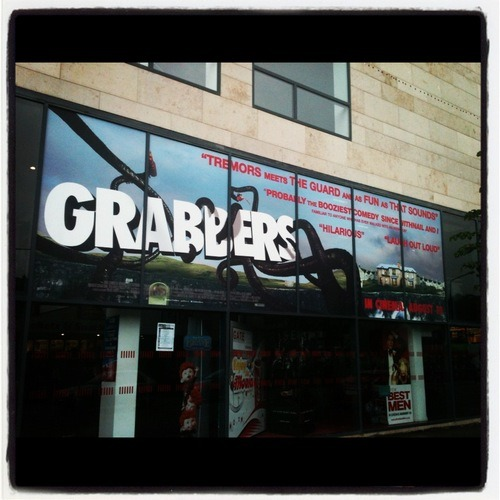 Outside my local cinema in Cork during Grabbers Irish cinema release. It's the cinema I went to as a kid, and still go to when I'm back in Cork.