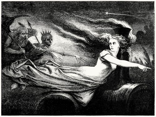 Look at those flitting ghosts.  From Puck on Pegasus, by  Henry Cholmondeley-Pennell, illustrated by John Leech, John Tenniel et al, London, 1868.  (Source: archive.org)