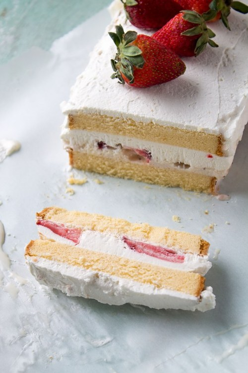 foodopia:  strawberries and cream ice cream cake: recipe here