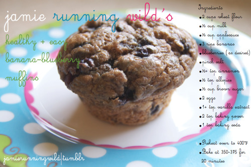 Here's the banana-blueberry muffin recipe I promised everyone! I hope you enjoy them, I think they're delicious! Recipe credit goes to my housemate, Amber :)