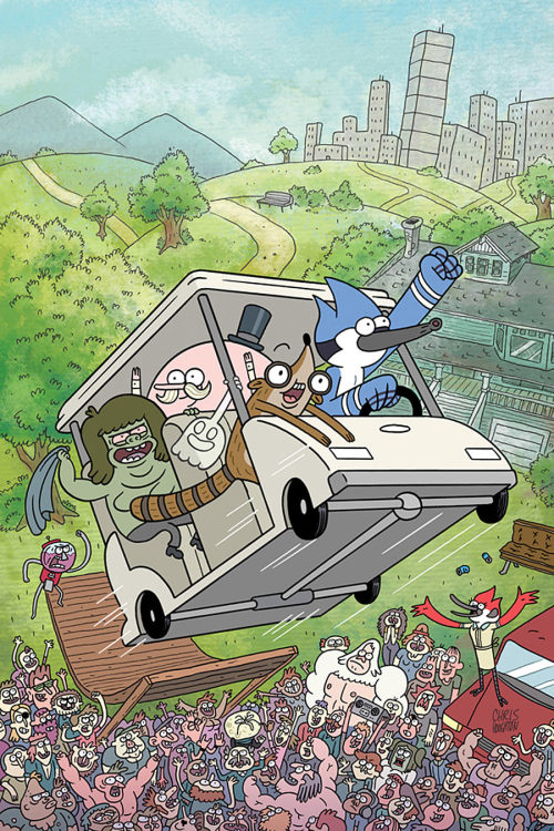 Boom! Officially Announces A 'Regular Show' Ongoing By K.C. Green And Allison Strejlav By Graeme McMillan  Following on from its uber-successful Adventure Time line, Boom! Studios has announced plans to bring another Cartoon Network series to comics with the upcoming debut of a Regular Show ongoing written byK.C. Green (Gunshow), with art by Allison Strejlav.