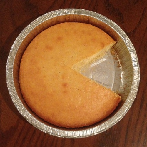 Sometimes your cornbread unintentionally ends up looking like Pac-Man.
