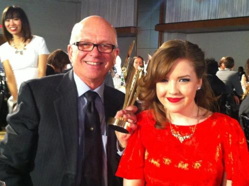 madamedegrassi123:  Degrassi Parties 2013 Aislinn and her dad