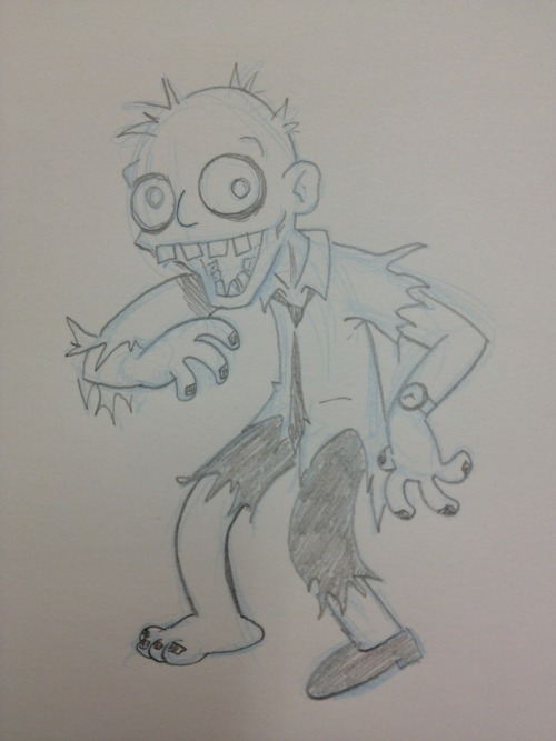 It's been a while since I've doodled a Monday zomb. So here's one.
