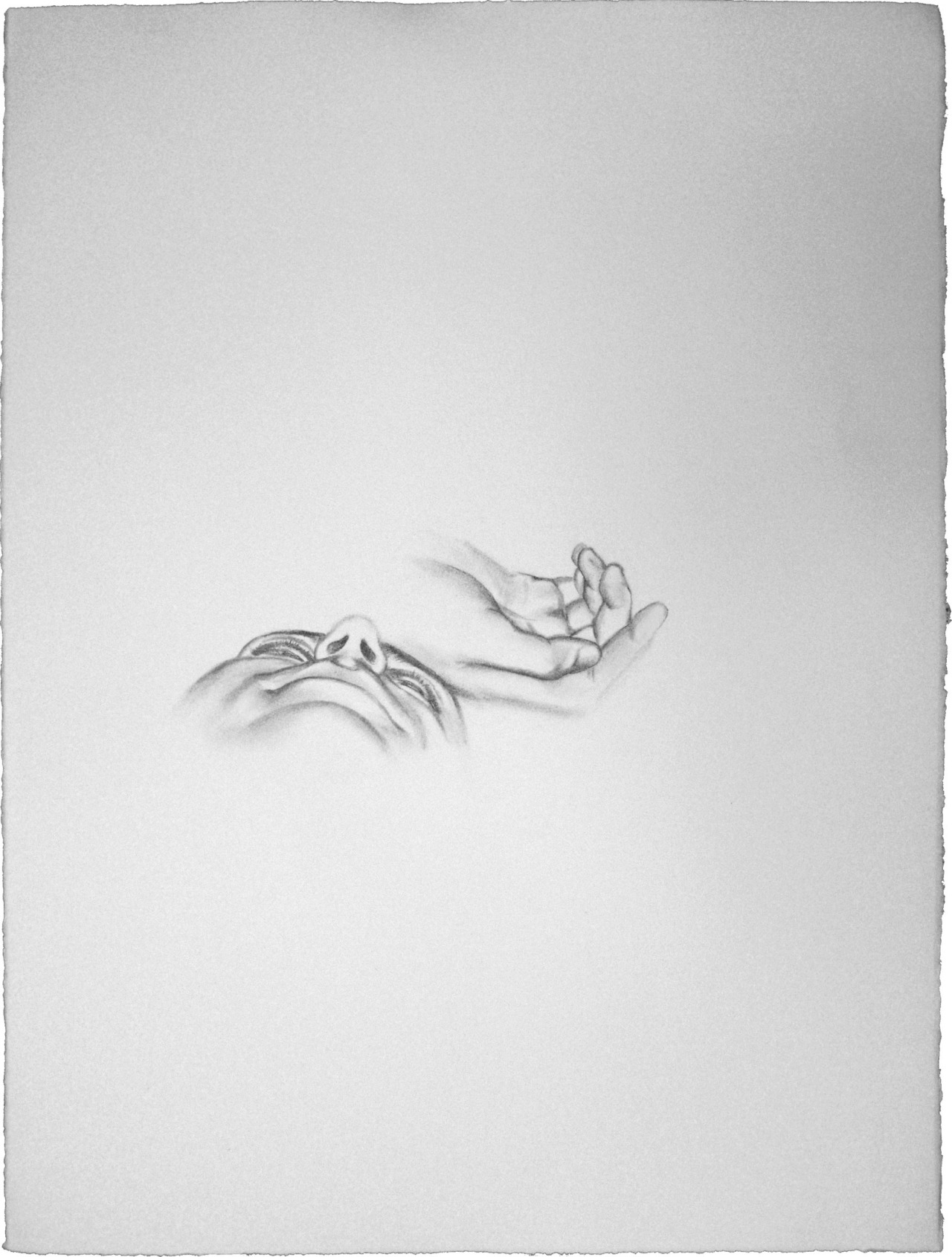 "Fatigue Fragment by Travis K. Schwab - Graphite on paper 30"" X 22"""