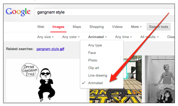 searchengineland:  Now you can find animated gifs via Google image search.