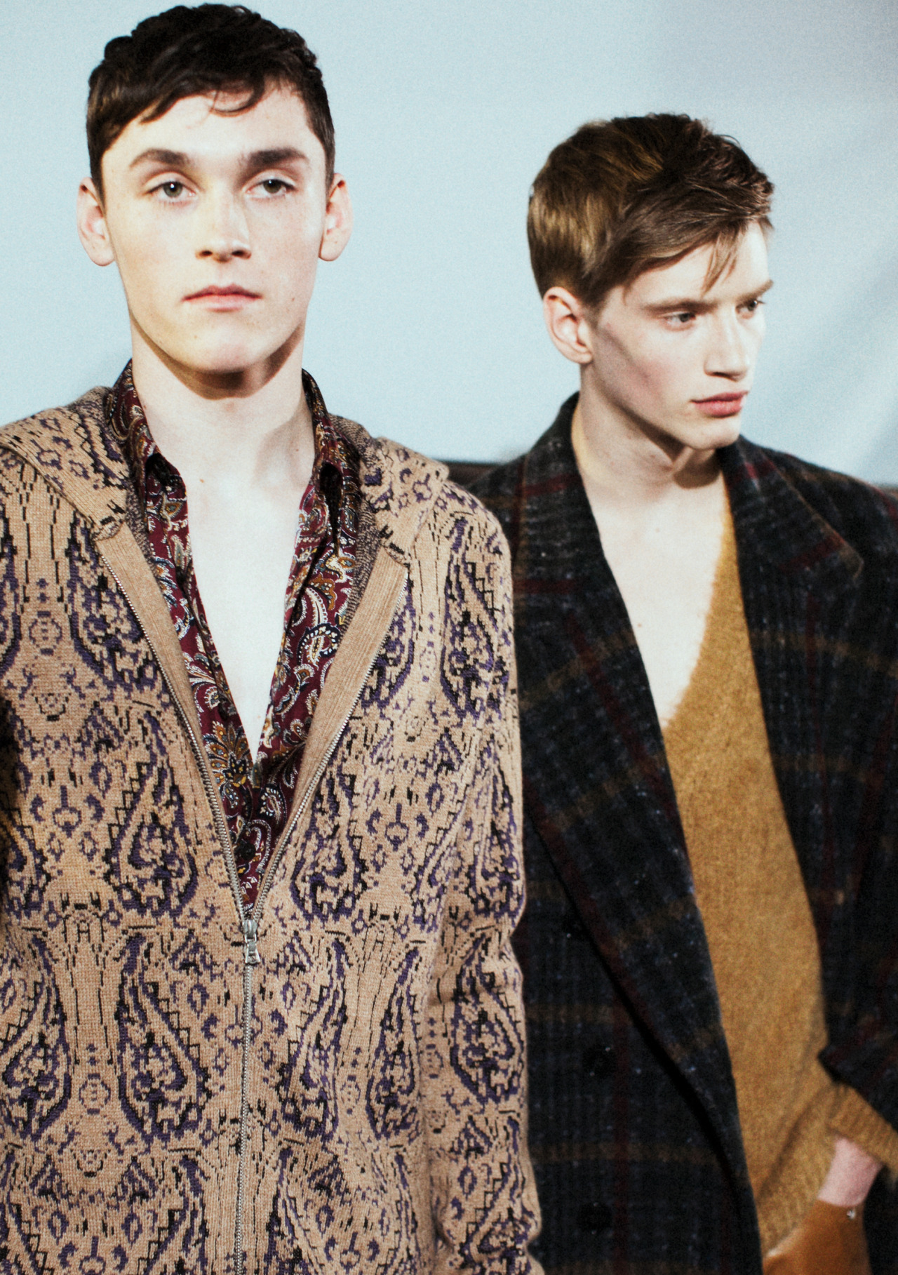 Anders Hayward & Justin Sterling Backstage at Dries van Noten AW13 by Lea Colombo
