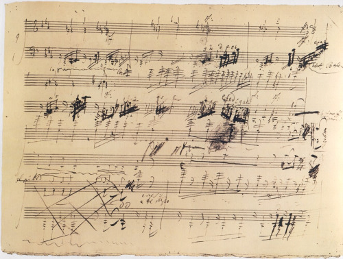 therealopinionofme:  Beethoven's handwriting