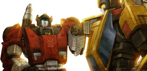 gmanimages:  Brothers (Sideswipe & Sunstreaker)