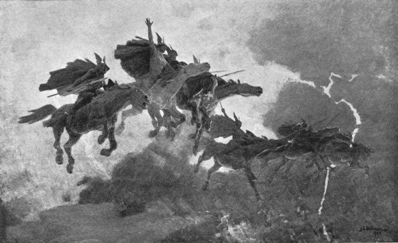 """The Ride of the Valkyries"" by John Charles Dollman."