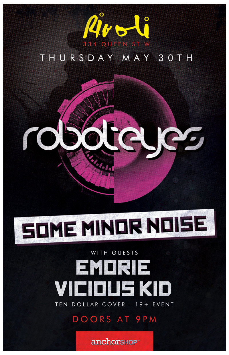 Thursday May 30th at the Rivoli with Some Minor Noise, Emorie and Vicious Kid!  RSVP link here.