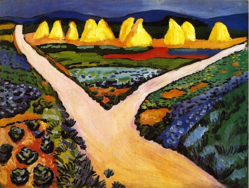 bofransson:  August Macke - 1911 Vegetable Fields