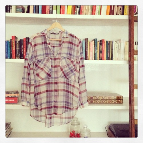 new in! the perfect plaid shirt by zara