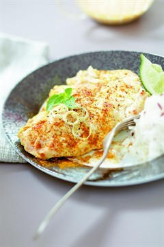 (via Larousse Cuisine - Escalopes de dinde au curry)