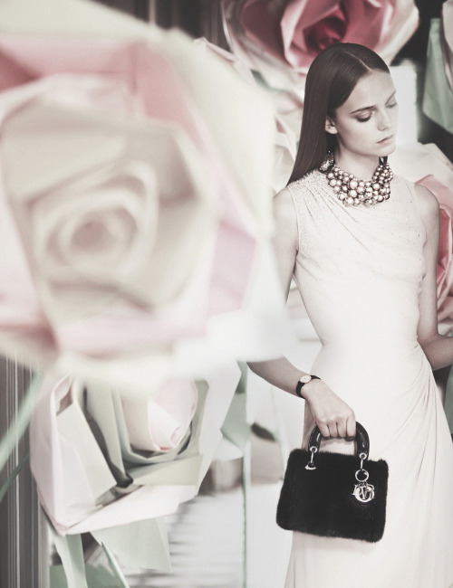 deprincessed:  Nimue Smit by Koto Bolofo for An Exceptional Christmas, Dior Holiday 2012