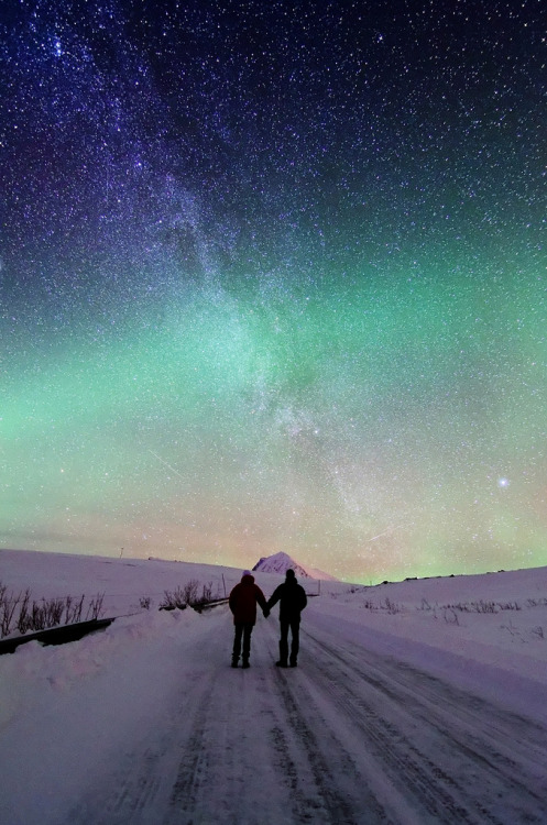 Together in the polar night by John A.Hemmingsen
