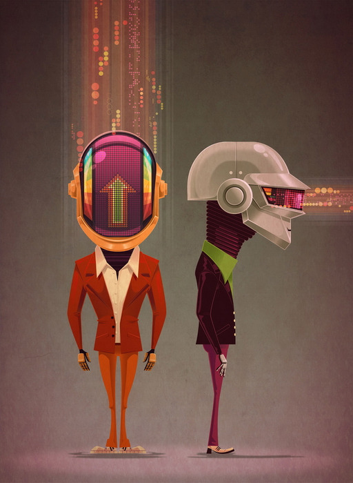 geek-art:  Geek-Art.net : Rediscovery : an artshow tribute to Daft Punk @Gauntlet Gallery Art by James Gillear