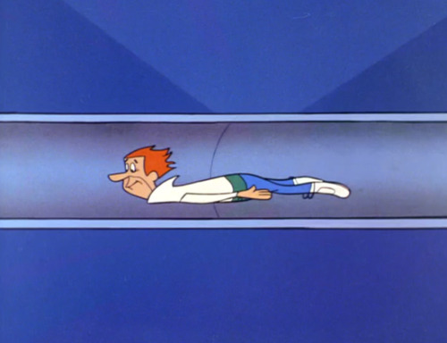 paleofuture:  George Jetson Navigates A Series of Tubes