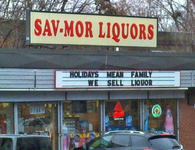 TRUTH IN ADVERTISING from a collection of Funny Christmas Signs & Photos
