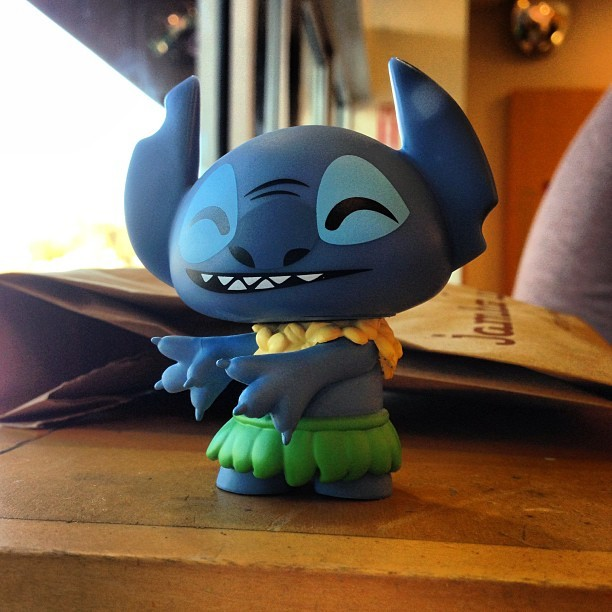 New vinyl toy. #disney #stich #vinyltoys