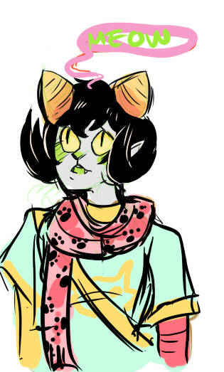 quick nepeta sketch