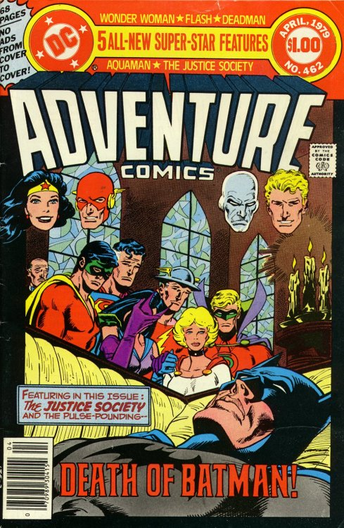 jinime:      Adventure Comics #462, April 1979, cover by Jim Aparo,