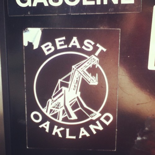 nough said #beastoakland #home #oakland #stickerifoundatagasstation
