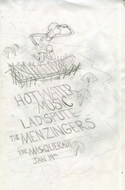 Pencils for a Hot Water Music Poster