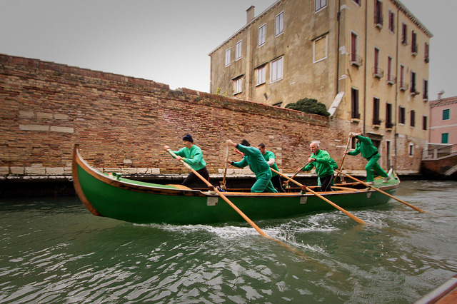 Crew practice, Venice-style. on Flickr.