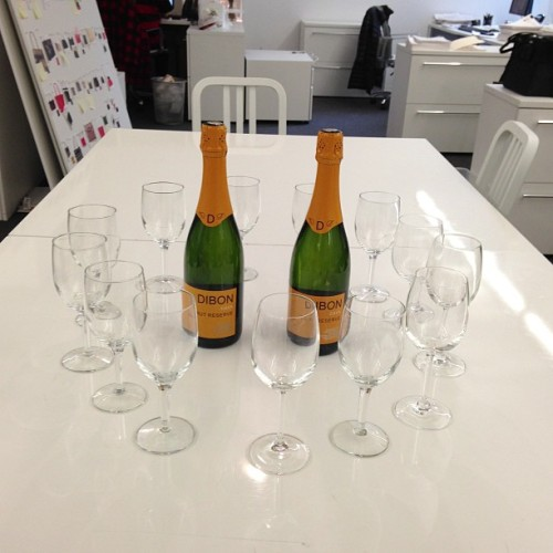 Never fails … Celebrating!! #champagne #katespadeny  (at kate spade new york)