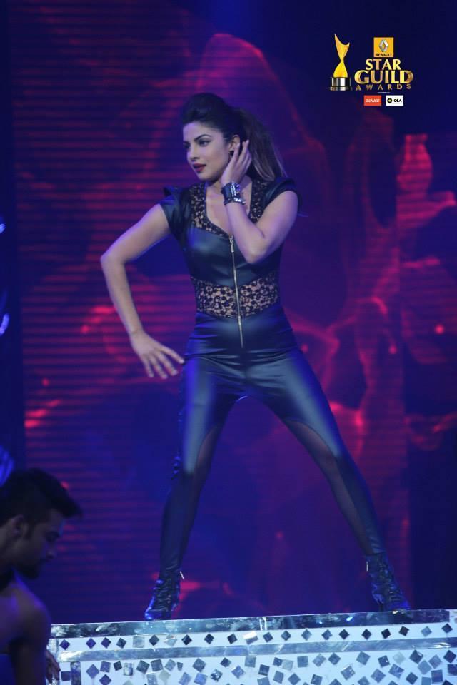 Sexy Priyanka Chopra performance in Leather Dress