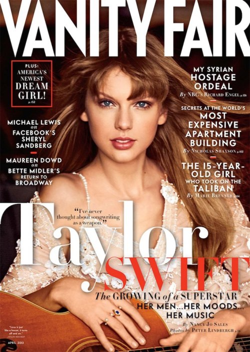Miss April  Taylor Swift talks to Vanity Fair about her love life and Hyannis Port home—plus, her words for Tina Fey and Amy Poehler. Photo by Peter Lindbergh